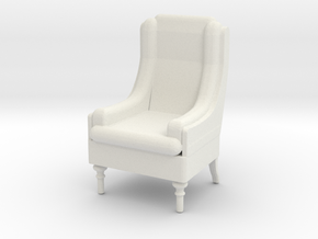 Tall Armchair 1:25 in White Natural Versatile Plastic