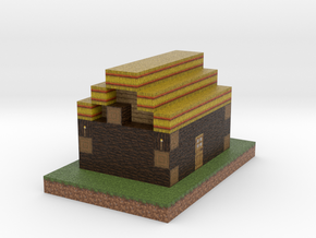 Minecraft Godes Pioner House in Full Color Sandstone
