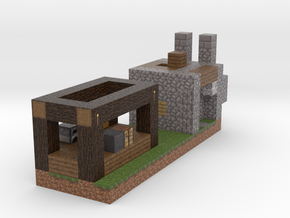 Minecraft Godes Smith in Full Color Sandstone