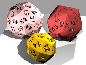Catalan dice bundle 2 in White Strong & Flexible
