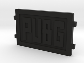 PUBG Dog Tag in Black Natural Versatile Plastic