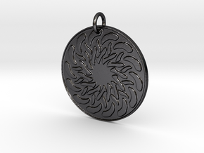 Radial Pendant in Polished and Bronzed Black Steel