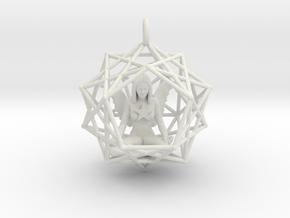 Solar Angel Starship 38mm in White Natural Versatile Plastic