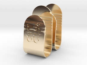 Cuff Clips - Metal (pair) in 14K Yellow Gold