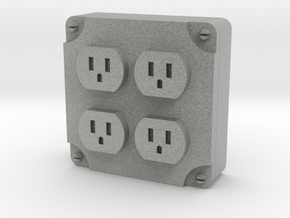 1:10 scale 110v OUTLET in Metallic Plastic: 1:10
