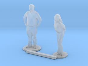 S Scale People Standing 4 in Smooth Fine Detail Plastic