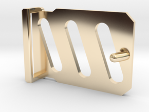 'Industrial' Style Belt Buckle in 14k Gold Plated Brass
