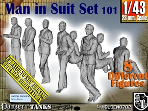 1/43 Man In Suit Set101 in Smooth Fine Detail Plastic