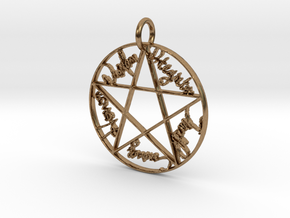 Pentacle Pendant in Natural Brass