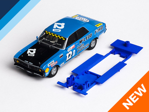 1/32 Scalextric Ford Falcon XY Chassis for IL pod in Blue Processed Versatile Plastic