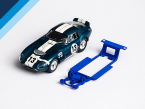 1/32 Monogram Cobra Daytona Chassis for Slot.it IL in White Natural Versatile Plastic
