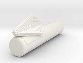 3788 Scale Tholian Cargo Patrol Corvette w/Pod SRZ in White Natural Versatile Plastic