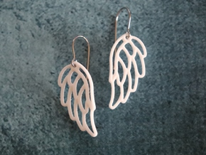 Angel Wing Earrings in White Processed Versatile Plastic