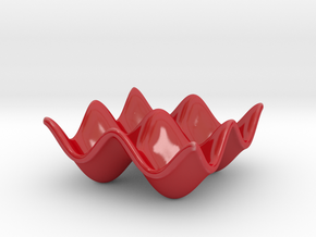 Wavy Plate in Gloss Red Porcelain