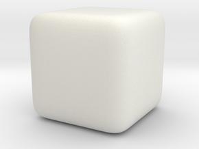 justCube in White Natural Versatile Plastic