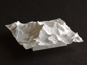 3''/7.5cm Mt. Everest, China/Tibet, WSF in White Natural Versatile Plastic