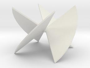 3D Turbine Rotor in White Natural Versatile Plastic