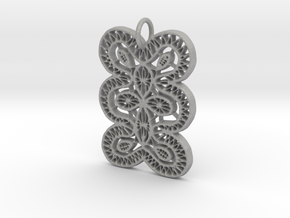 Lace Ornament Pendant Charm in Aluminum