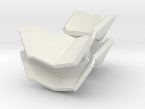 1/6 shoulder armor sci-fi in White Natural Versatile Plastic
