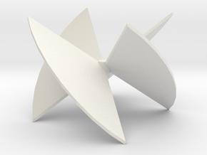 3D Turbine Rotor (Mirror) in White Natural Versatile Plastic