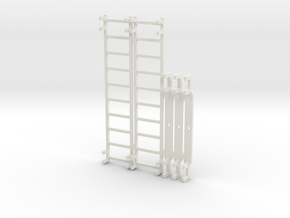 SX_14m_ladders and sheave bars in White Natural Versatile Plastic