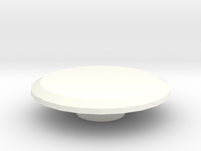 Spinner Button in White Processed Versatile Plastic