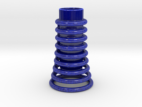 Torus Tube Cup in Gloss Cobalt Blue Porcelain