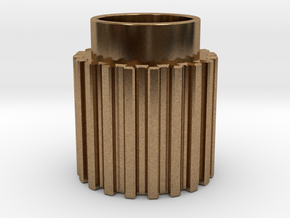 Chamfer Tooth Gear in Natural Brass