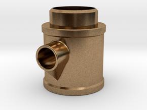 Cross Exhaust in Natural Brass