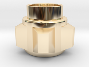 Obi-Wan Pommel in 14K Yellow Gold