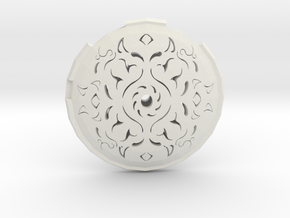 Hollow Rune Medallion in White Natural Versatile Plastic