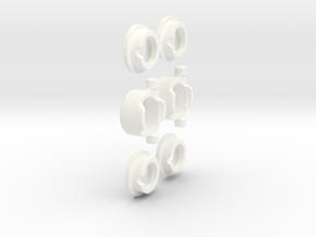 E/T-MAXX 1/8 Hybrid Diff KIT (Front&Rear) Alu in White Processed Versatile Plastic