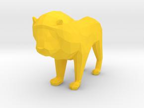 Lion in Yellow Processed Versatile Plastic
