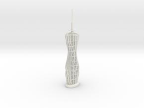 Pyramidenkogel Tower (single-part model) in White Natural Versatile Plastic