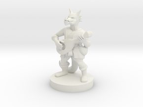 Kobold Bard in White Natural Versatile Plastic