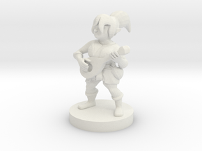 Halfling Female Bard in White Natural Versatile Plastic