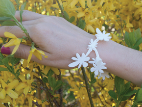Forsythia Bracelet in White Natural Versatile Plastic
