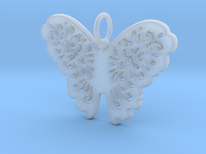 Flourish Lace Butterfly Pendant Charm in Smooth Fine Detail Plastic
