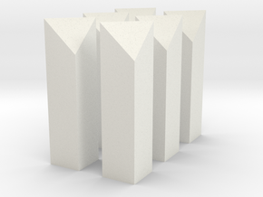 G Scale Mile Posts x 6 in White Natural Versatile Plastic