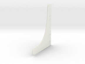 Beard comb in White Natural Versatile Plastic