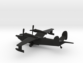 Beriev Be-12 Chayka (Landing Gear) in Black Natural Versatile Plastic: 1:400