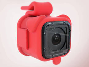 Puppy Cam - GoPro Mount for Dogs in Red Strong & Flexible Polished