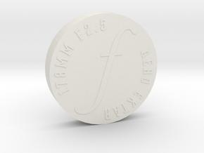 Lens Cap - Aero Ektar w/o Short Hood in White Natural Versatile Plastic