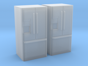 3-Door French Door Refrigerator 1-64 Scale in Smooth Fine Detail Plastic
