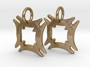Hafinkra Charms (pair) in Polished Gold Steel