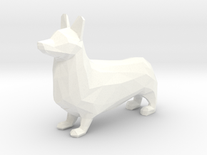 Corgi in White Processed Versatile Plastic