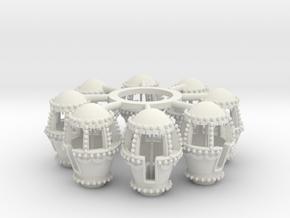 ZAMPERLA wheel tubs in White Natural Versatile Plastic