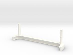 Moto G5 Plus Landscape Stand / Car Mount in White Processed Versatile Plastic