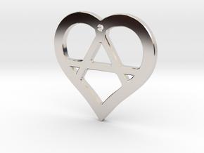 The Wild Heart (precious metal pendant) in Rhodium Plated Brass