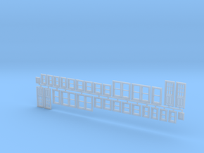 House Window set in HO scale in Smoothest Fine Detail Plastic